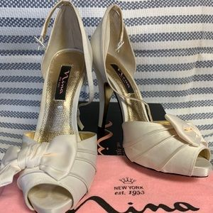 "Off-white 1"" heels"